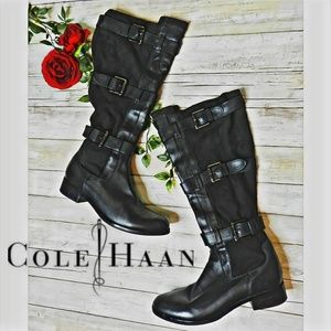 Cole Haan Nike air Avalon buckle riding boots w8